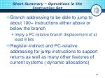 short summary operations in the instruction set