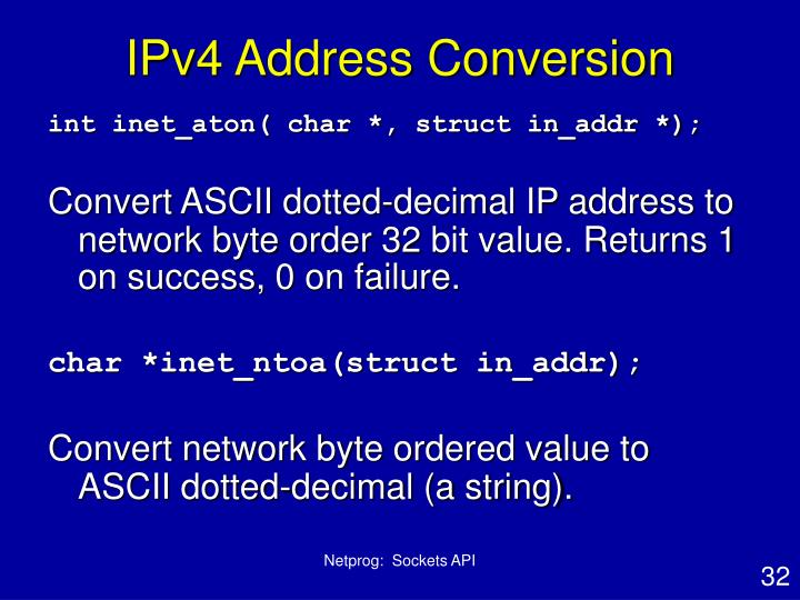 IPv4 Address Conversion