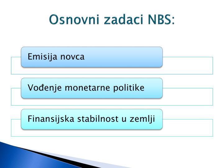 Osnovni zadaci NBS: