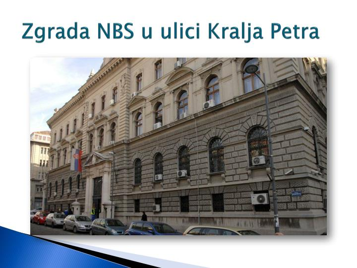 Zgrada NBS u ulici Kralja Petra
