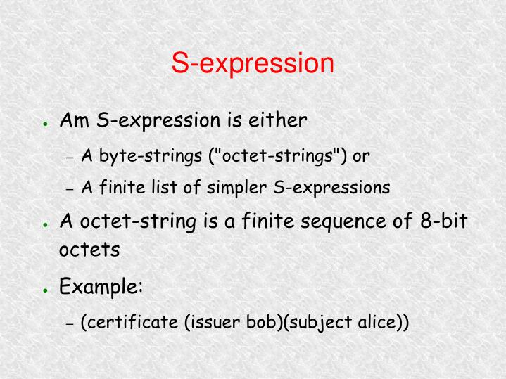 S-expression
