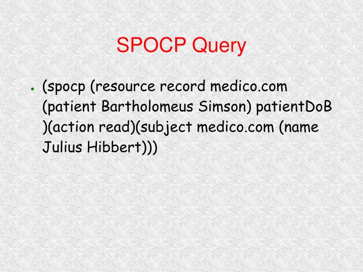 SPOCP Query