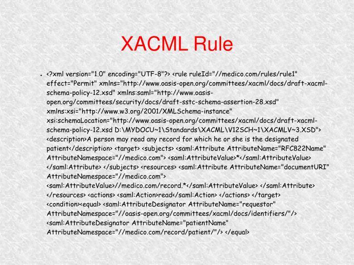XACML Rule