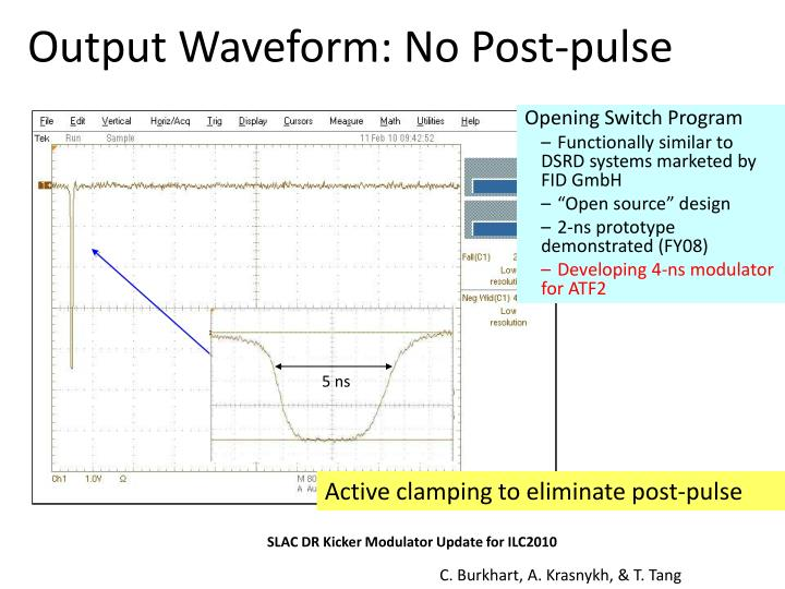 Output Waveform: No Post-pulse