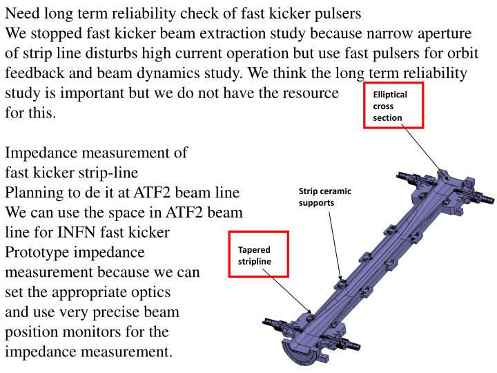 Need long term reliability check of fast kicker