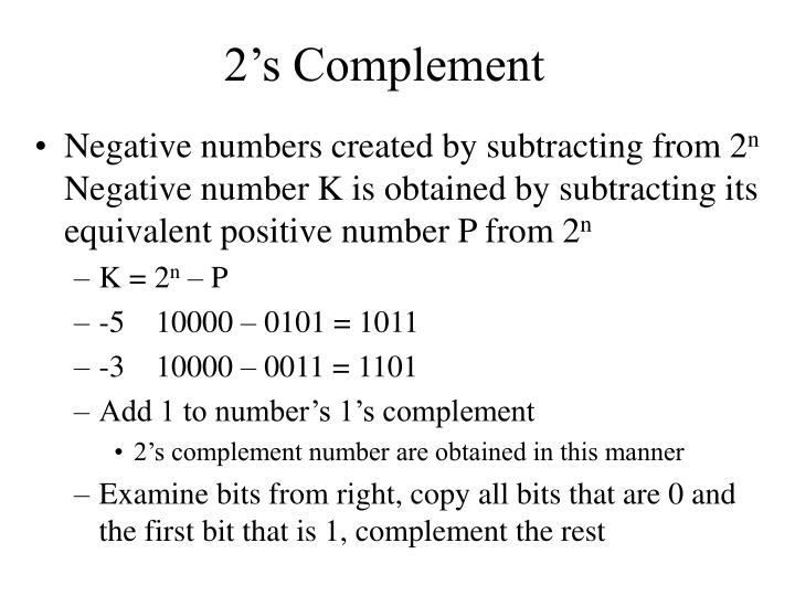 2's Complement