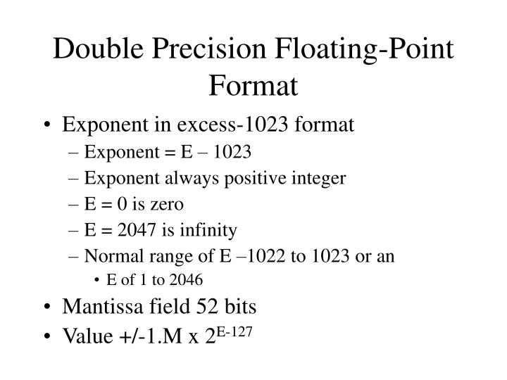 Double Precision Floating-Point Format