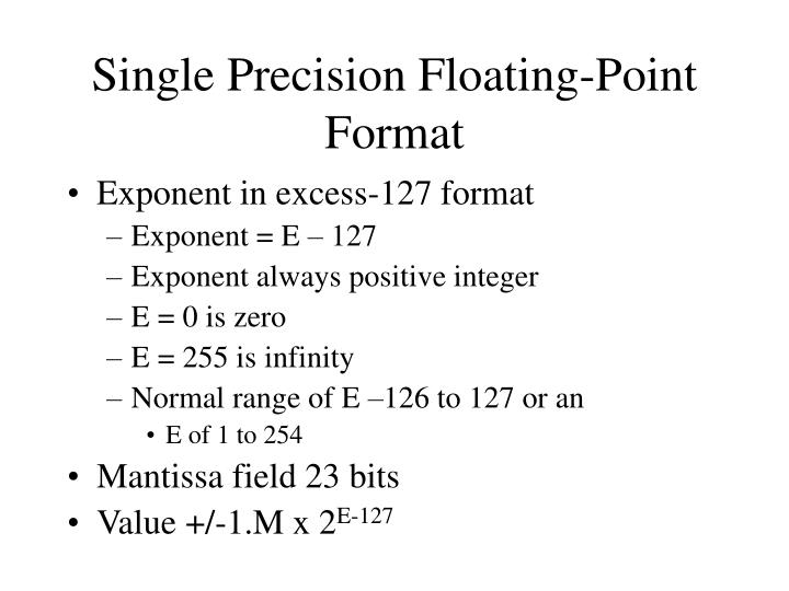 Single Precision Floating-Point Format