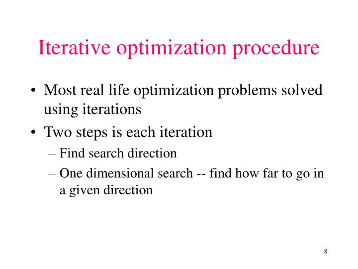 Iterative optimization procedure