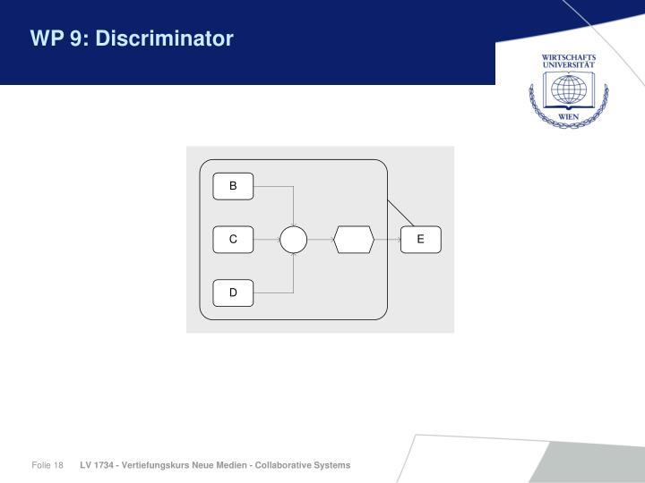 WP 9: Discriminator