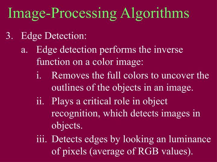Image-Processing Algorithms
