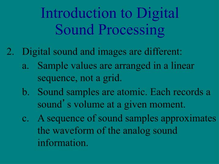 Introduction to Digital