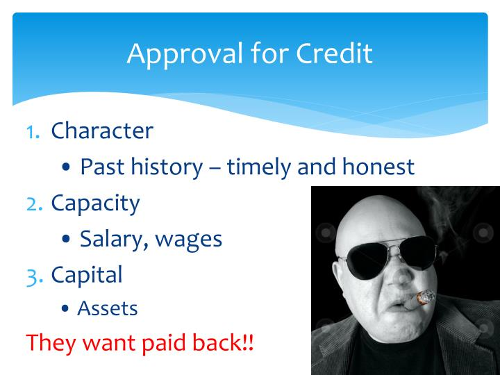 Approval for Credit