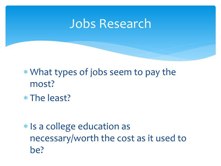 Jobs Research