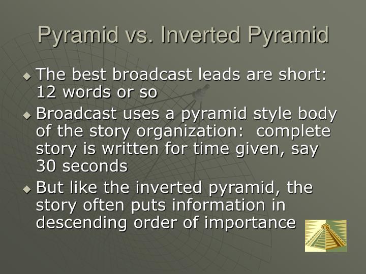 Pyramid vs. Inverted Pyramid