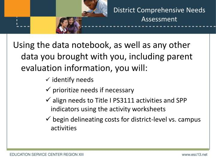 District Comprehensive Needs Assessment