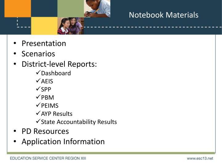 Notebook Materials
