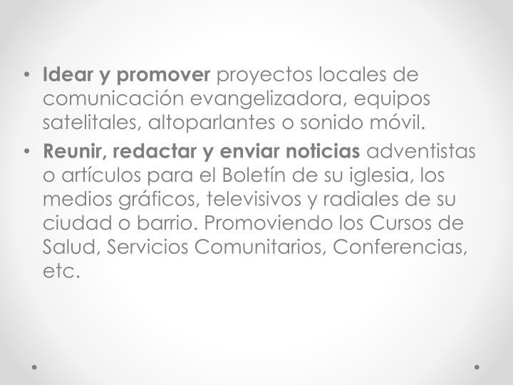 Idear y promover