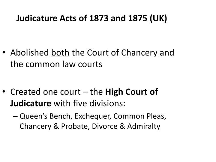 Judicature Acts of 1873 and 1875 (UK)