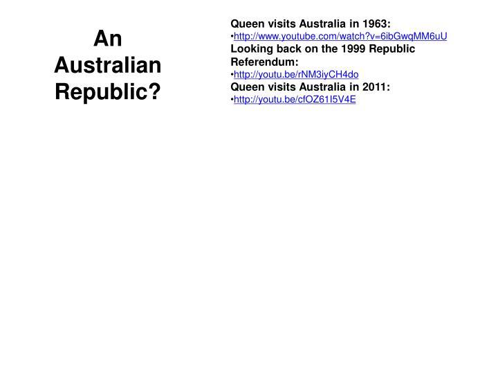 Queen visits Australia in 1963: