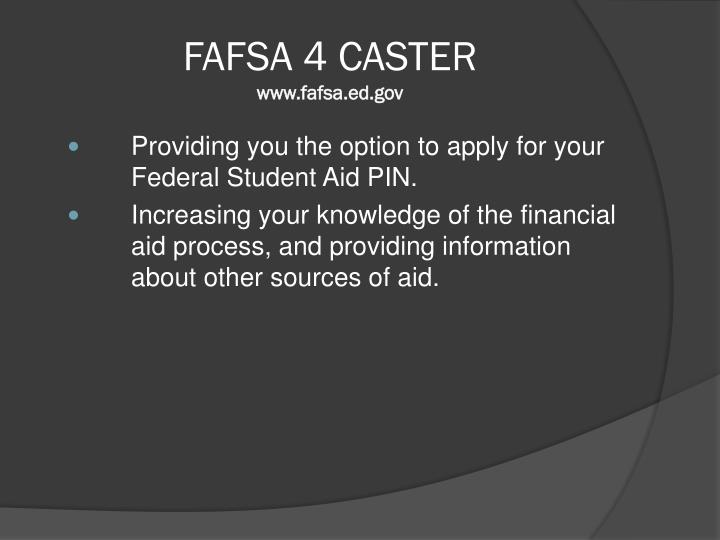 FAFSA 4 CASTER