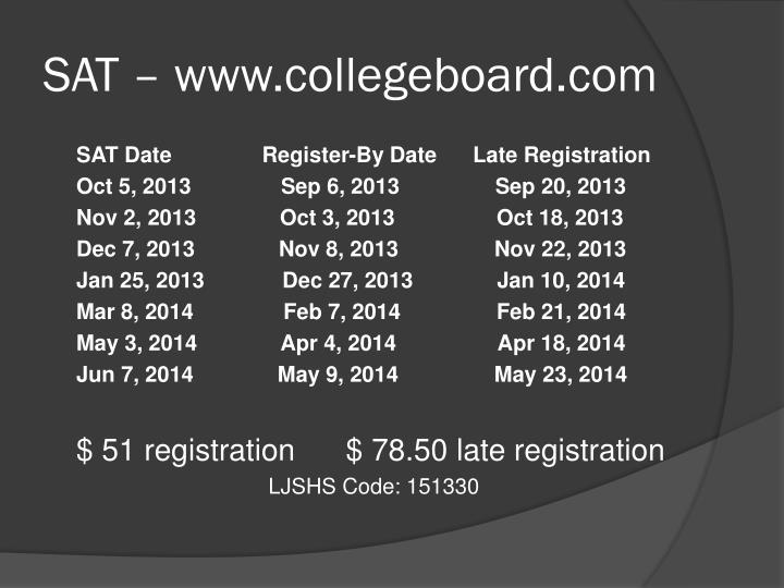 SAT – www.collegeboard.com