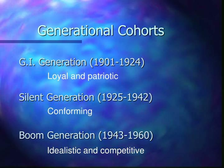 Generational Cohorts