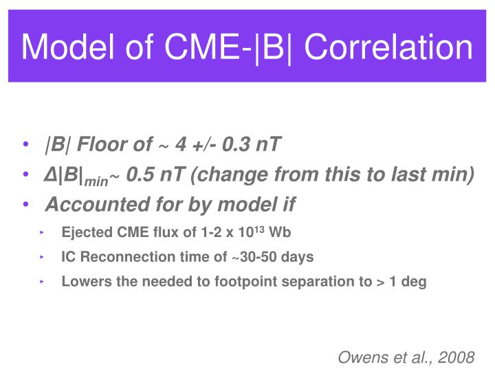 Model of CME-|B| Correlation
