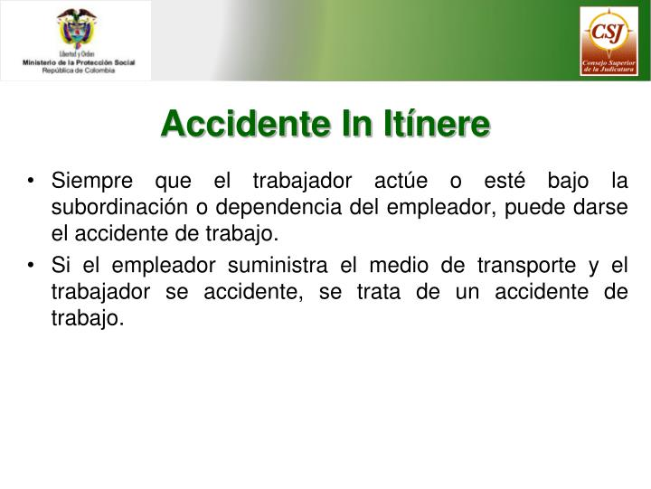 Accidente In Itínere