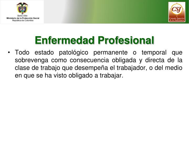 Enfermedad Profesional