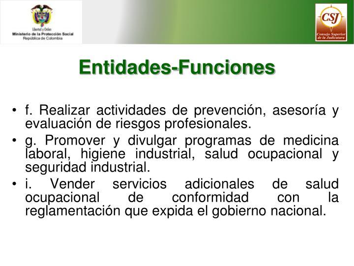 Entidades-Funciones
