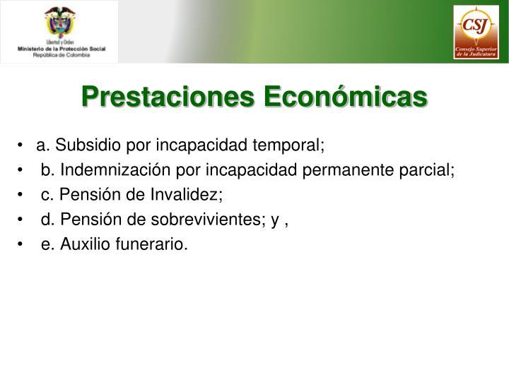 Prestaciones Económicas