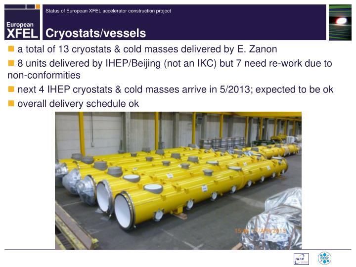 Cryostats/vessels
