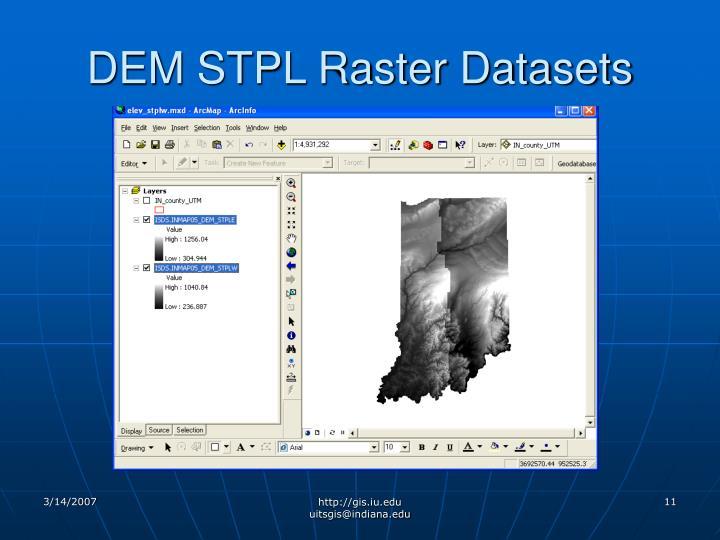 DEM STPL Raster Datasets