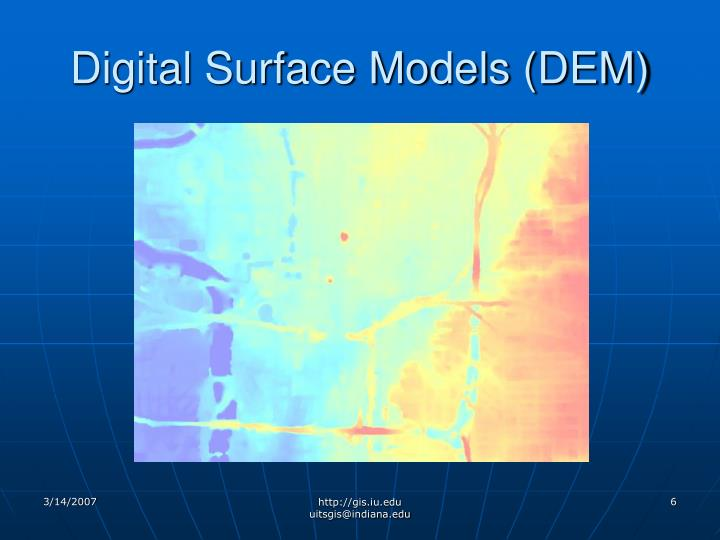 Digital Surface Models (DEM)