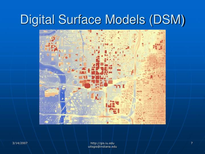 Digital Surface Models (DSM)