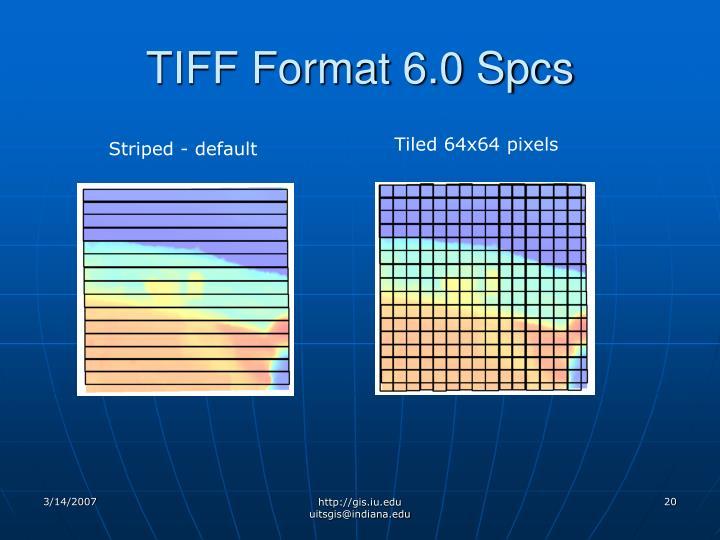 TIFF Format 6.0 Spcs