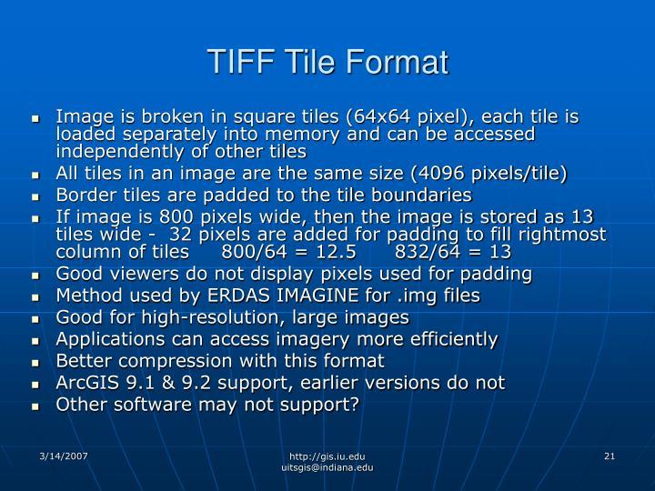 TIFF Tile Format