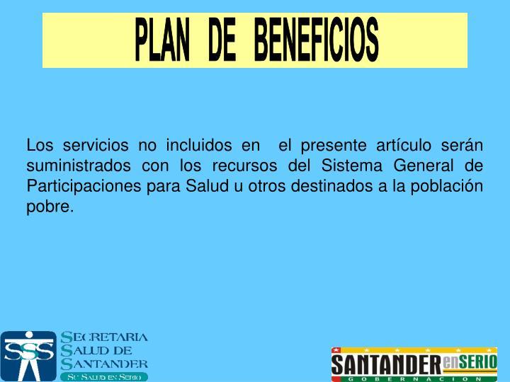 PLAN   DE   BENEFICIOS