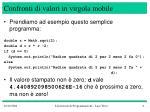 confronti di valori in virgola mobile1