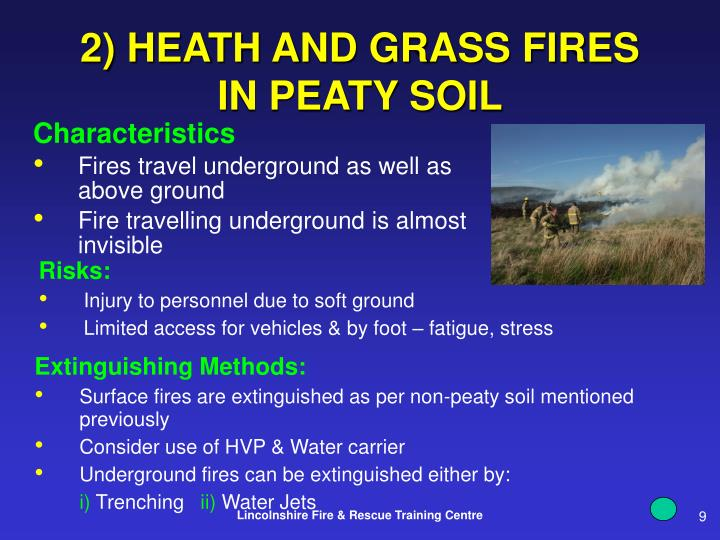 2) HEATH AND GRASS FIRES IN PEATY SOIL