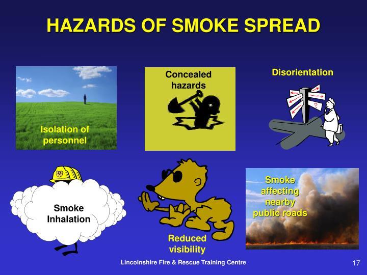 HAZARDS OF SMOKE SPREAD