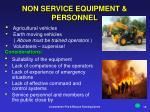 non service equipment personnel