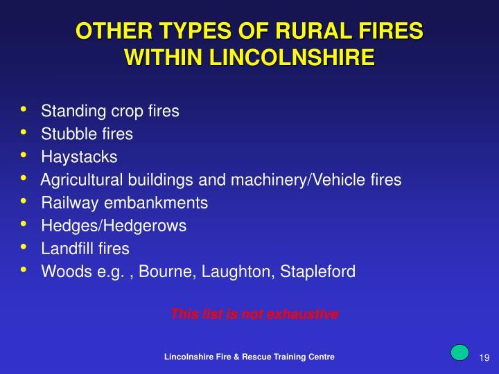 Standing crop fires