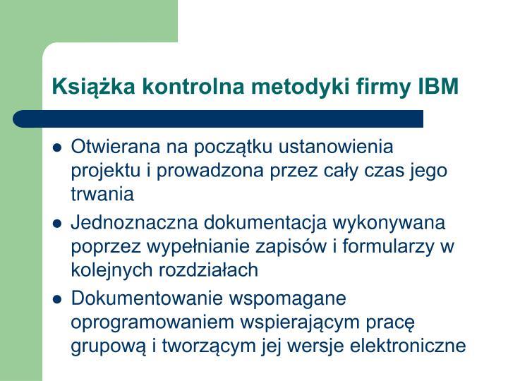 Książka kontrolna metodyki firmy IBM