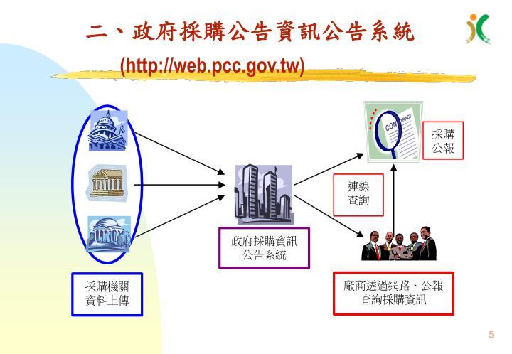 二、政府採購公告資訊公告系統