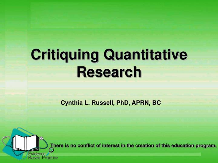 research paper critique qualitative Qualitative research critique kimberly hargrove, jie li, and erica zache ferris state university abstract this critique reviewed a study based upon abused women.