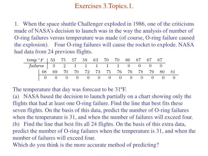 Exercises 3.Topics.1.