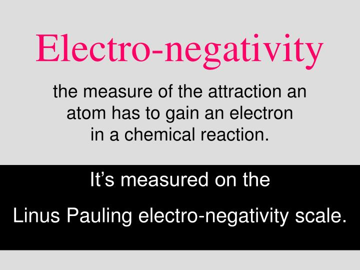 Electro-negativity