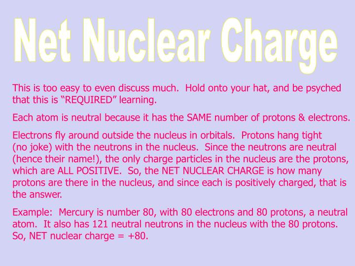 Net Nuclear Charge